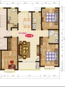 东方华城 1楼带小院 4500元一平,