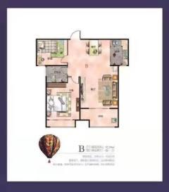(北城区)汇洋·新悦城2室2厅1卫92.29m²简单装修
