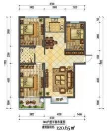 (西城区)福路佳苑 3室2厅1卫120m²毛坯房