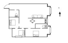 (空港区)东方华城3室2厅2卫118m²简单装修