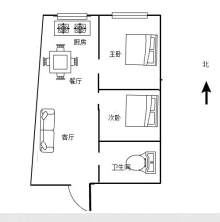 (空港区)嘉禾.西班牙2室1厅1卫63.15m²精装修