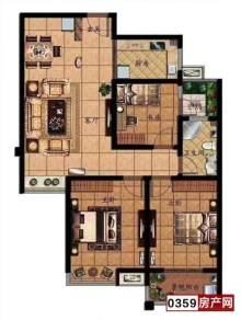(北城区)金鑫·华源豪庭3室2厅1卫110m²毛坯房