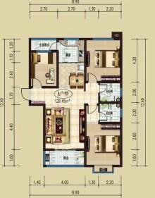 (北城区)都市花园3室2厅2卫129m²毛坯房