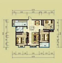 (北城区)都市花园3室2厅1卫112m²毛坯房