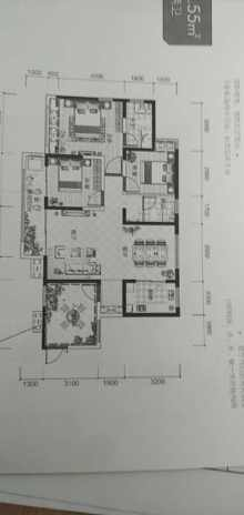 (北城区)五洲观澜3室2厅1卫126m²毛坯房