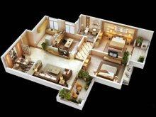 铂郡东方 3室 118m² 毛坯 随便装 北区最便宜的按揭房
