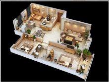 (北城区)国科欢乐港3室2厅2卫131m²毛坯房