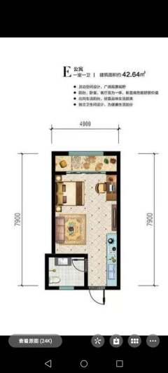 (中心区)南风新都汇1室1厅1卫42m²精装修