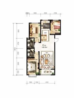 (空港区)左岸凰城3室2厅1卫