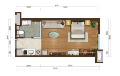 (北城区)上德·大学苑1室1厅1卫20万43.32m²出售