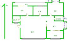 槐东花园 步梯三楼精装三室两厅两卫 142平 有本满二 88.5万