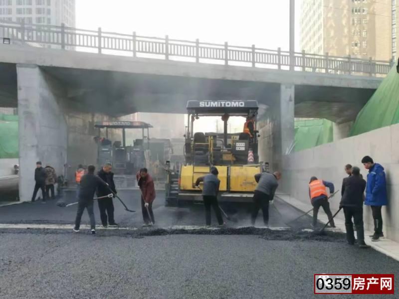 人民路下穿鐵路立交橋項目主車道2月6日通車!