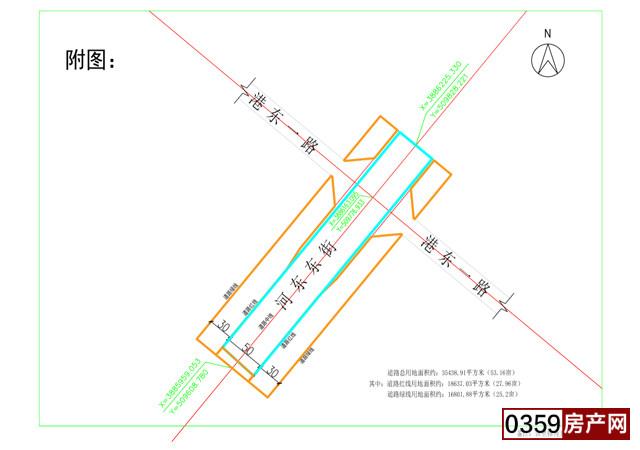 關于河東東街延長線《建設項目用地預審與選址意見書》的公示
